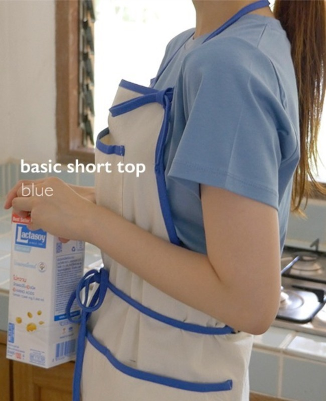 Basic Short Top: blue
