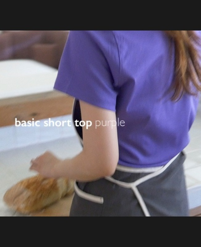 Basic Short Top: purple